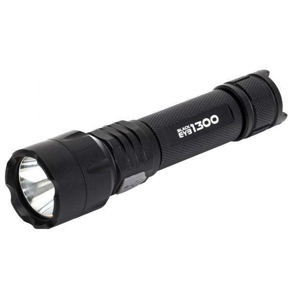 BLACK EYE Taschenlampe - wiederaufladbar - 1300lm - 270m Leuchtweite
