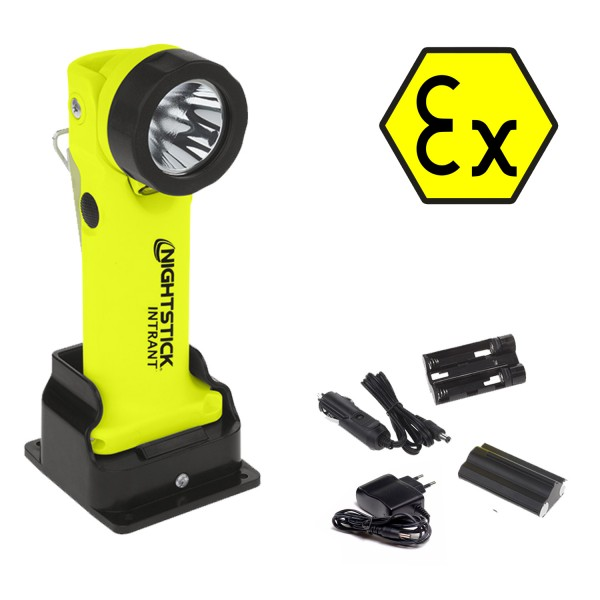 Nightstick INTRANT Akku Winkelkopflampe - inkl. Ladestation - Feuerwehr - ATEX - XPR-5568GX