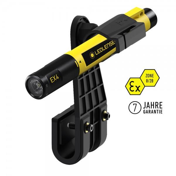 LEDLENSER EX4 Taschenlampe inkl. Helmhalter HIGH