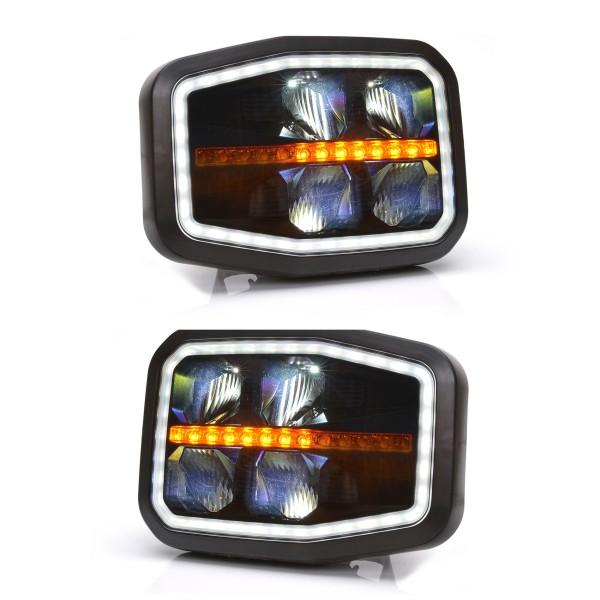 2er Set Hauptscheinwerfer W188 LED, dynm. Blinker, Tagfahrlicht, Positionslicht, Abblendlicht, Fernlicht