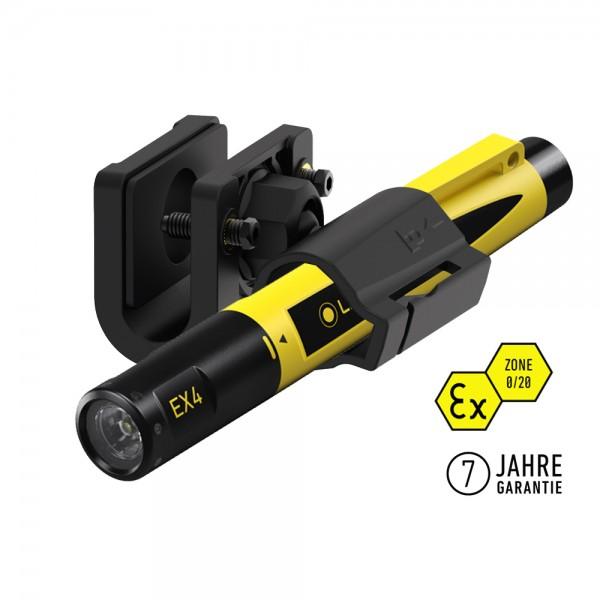 LEDLENSER EX4 Taschenlampe inkl. Helmhalter COMPACT