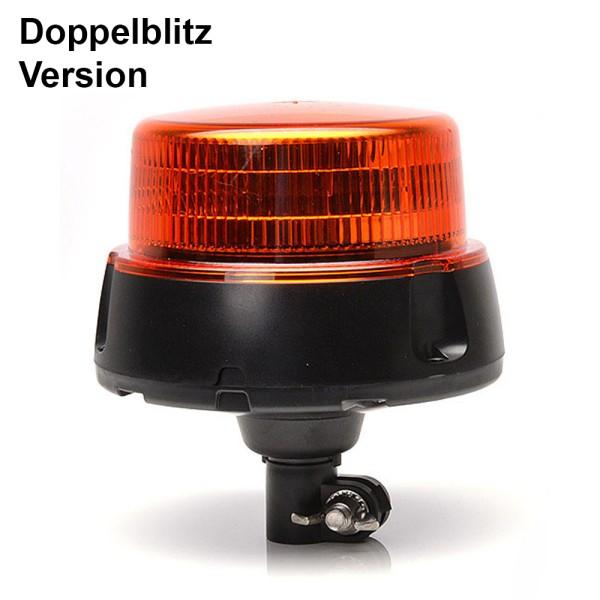 R65 LED Doppelblitz - orange - flach