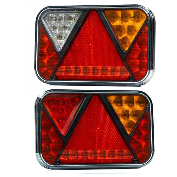 REFLECT LED Rückleuchten Set mit 5P Bajonett Anschluss LKW o. Anhänger