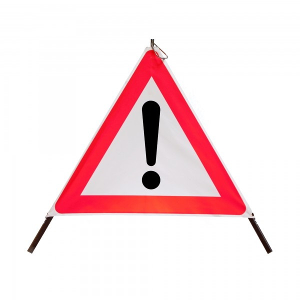 Faltsignal mit Warnsymbol VZ 101 - 70cm - UNIVERSAL - tagesleuchtend