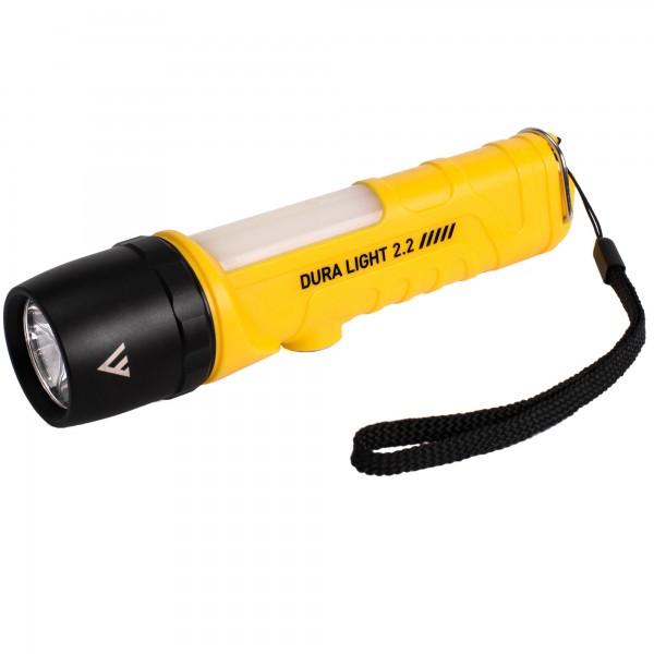 DL22 Industrie Taschenlampe - 400lm inkl. rote Warnleuchte - 3xAA