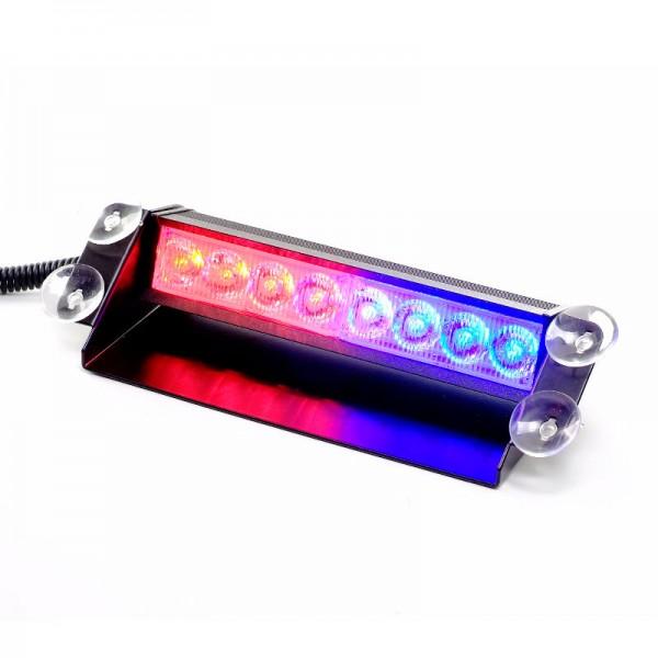 8W LED Straßenräumer- blau/rot